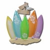 Item # 459015 - Surf Board Family Of 5 Christmas Ornament