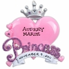 Item # 459025 - Personalizable Princess Heart Christmas Ornament