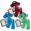 Item # 459028 - Maroon/Blue/Green Scrubs Christmas Ornament