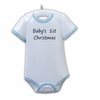 Item # 459035 - Blue Onesie Baby's First Christmas Ornament