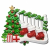 Item # 459042 - Bannister With 3 Stockings Ornament