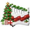 Item # 459044 - Bannister With 5 Stockings Ornament