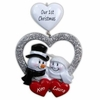 Item # 459056 - Snow Couple In Heart Wedding Christmas Ornament