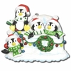 Item # 459066 - Penguin/Igloo Family Of 4 Christmas Ornament