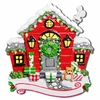 Item # 459078 - Red Christmas House Christmas Ornament