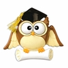 Item # 459081 - Graduate Owl Christmas Ornament