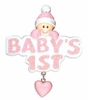 Item # 459089 - Pink Grandma's First Girl Christmas Ornament