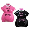 Item # 459114 - Pink/Black Love The Bump Christmas Ornament