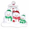 Item # 459122 - North Pole Family of 3 Ornament