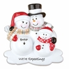 Item # 459155 - We're Expecting Snowman Couple With 1 Child Ornament