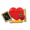 Item # 459158 - Teachers Have Heart Christmas Ornament