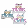 Item # 459167 - Baby's First Christmas Twins Christmas Ornament