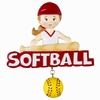 Item # 459169 - Softball Girl Christmas Ornament