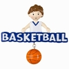 Item # 459170 - Basketball Boy Christmas Ornament