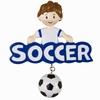 Item # 459172 - Soccer Boy Christmas Ornament