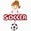 Item # 459173 - Soccer Girl Christmas Ornament