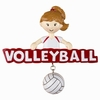 Item # 459174 - Volleyball Girl Christmas Ornament
