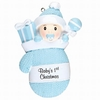 Item # 459180 - Baby's First Christmas Boy Mitten Ornament