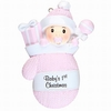 Item # 459181 - Baby's First Christmas Girl Mitten Ornament