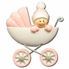 Item # 459214 - Pink Baby In Carriage Ornament
