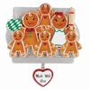 Item # 459221 - Made With Love Family of 6 Gingerbread Ornament