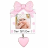 Item # 459242 - Pink Greatest Gift Ever Photo Frame Ornament