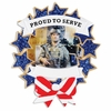Item # 459244 - Armed Forces Photo Frame Ornament