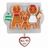 Item # 459246 - Made With Love Family of 3 Gingerbread Ornament