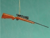 "Item # 483304 - 7"" Rifle With Scope Christmas Ornament"