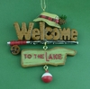 Item # 483520 - Welcome To The Lake Fishing Christmas Ornament