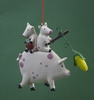 Item # 483630 - Feeding Time Pig Ornament