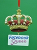 Item # 483765 - Facebook Queen Ornament