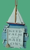 Item # 483770 - Keep Calm And Sail On Christmas Ornament