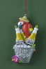 Item # 483781 - Parrot With Beer Bucket Christmas Ornament