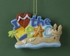 Item # 483782 - I Love The Beach Christmas Ornament