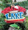 "Item # 483809 - 3.5"" Welcome to the Lake Ornament"