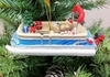 "Item # 483810 - 1.75"" Pontoon Boat Christmas Ornament"