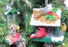 "Item # 483818 - 2.75-3.75"" Red/Green Bird Feeder Christmas Ornament"