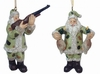 "Item # 483827 - 4"" Duck Hunter Santa Ornament"