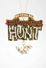 Item # 483828 - Hunting Sign With Antlers Christmas Ornament