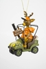 "Item # 483832 - 4.5"" Gone Hunting Deer In Cart Ornament"