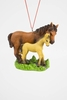 "Item # 483839 - 3"" Horse With Baby Christmas Ornament"