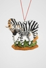 "Item # 483841 - 2.75"" Zebra With Baby Christmas Ornament"