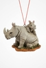 "Item # 483843 - 2.5"" Rhino With Baby Christmas Ornament"