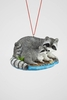 "Item # 483851 - 2"" Raccoon With Baby Christmas Ornament"