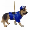 "Item # 483861 - 3"" Dog With Policeman Costume Christmas Ornament"