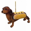 "Item # 483863 - 3"" Dog With Hot Dog Costume Christmas Ornament"