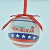 """Item # 483866 - 3"""" Proud To Be A Republican Christmas Ornament"""