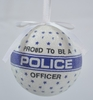 """Item # 483869 - 3"""" Proud To Be A Police Officer Christmas Ornament"""