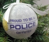 """Item # 483871 - 3"""" Gray Proud To Be A Police Officer Christmas Ornament"""